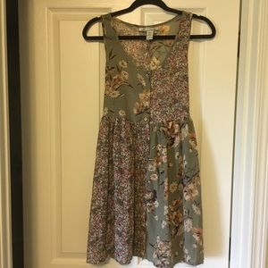 AMERICAN RAG olive green babydoll dress